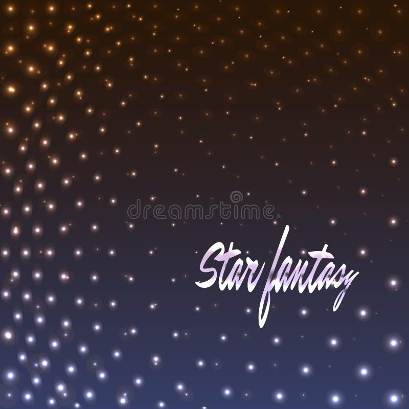 Фантазия звезды, поставленная точки предпосылка иллюстрация вектора