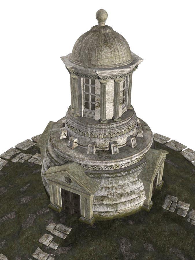 фантазия здания 3d иллюстрация вектора