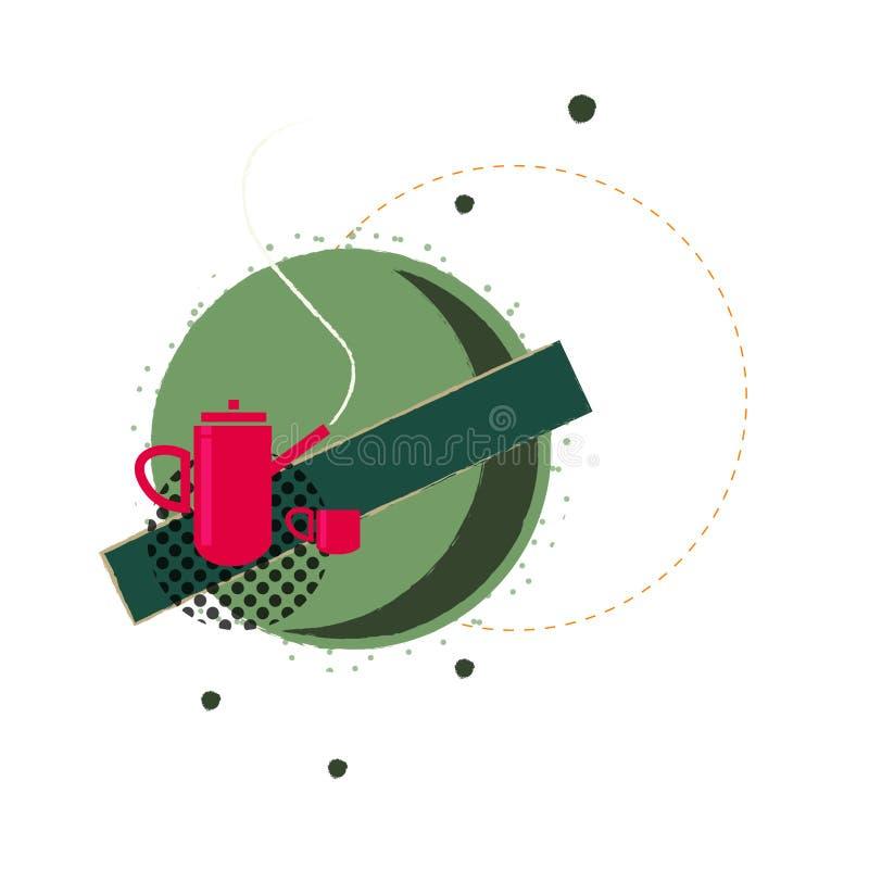 Фантазия иллюстрации чайника иллюстрация вектора