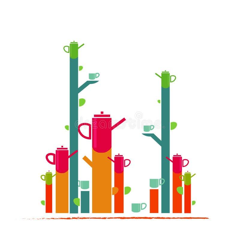 Фантазия иллюстрации чайника бесплатная иллюстрация