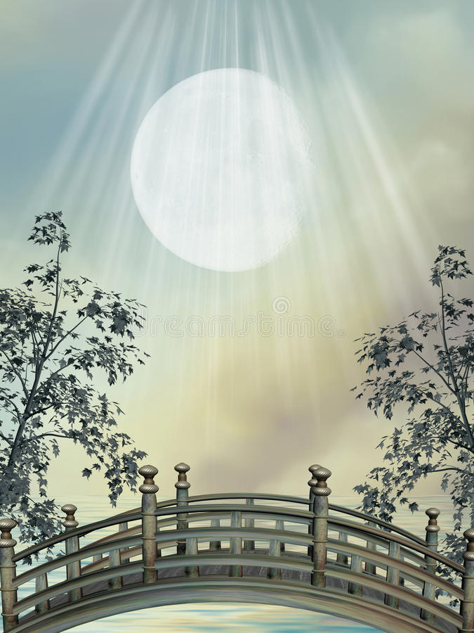 фантазия моста стоковые изображения rf