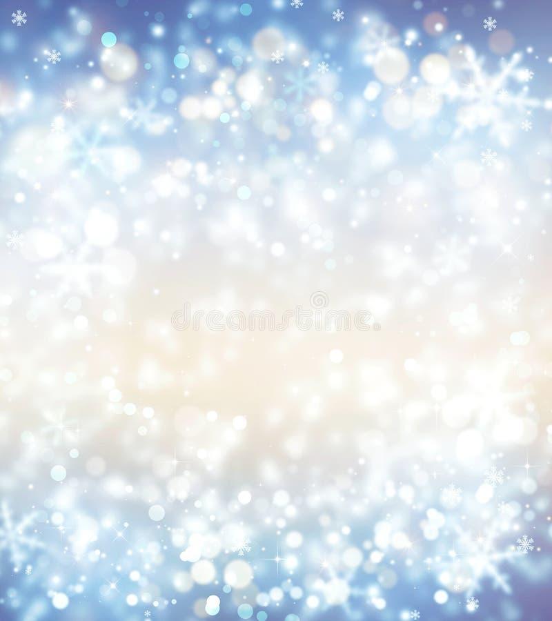 Фантазия рождества, предпосылка зимы иллюстрация штока