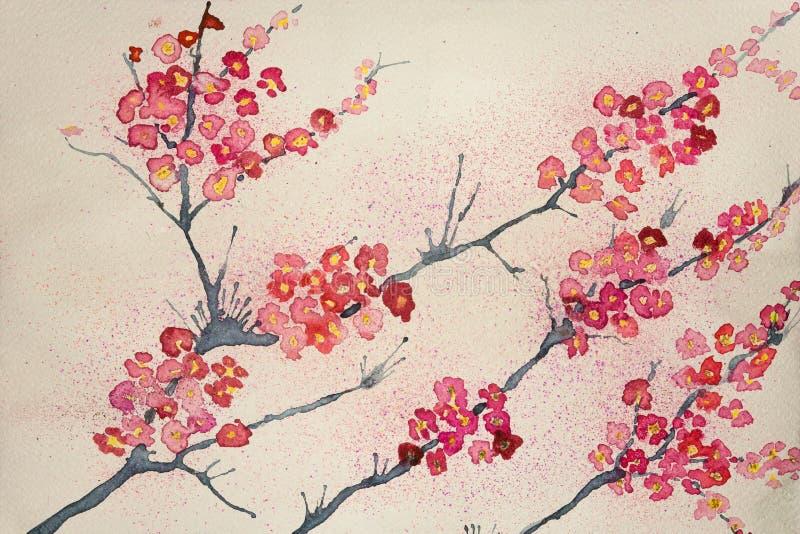 Фантазия цветений бирюзы люминисцентных против еженощного неба иллюстрация штока