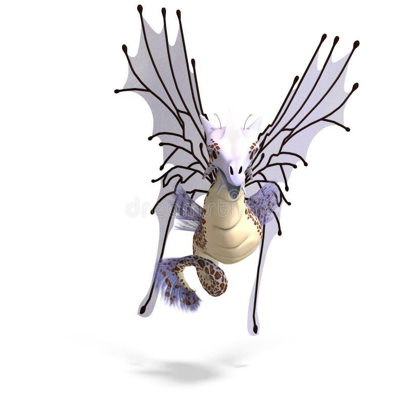 фантазия faerie дракона иллюстрация вектора