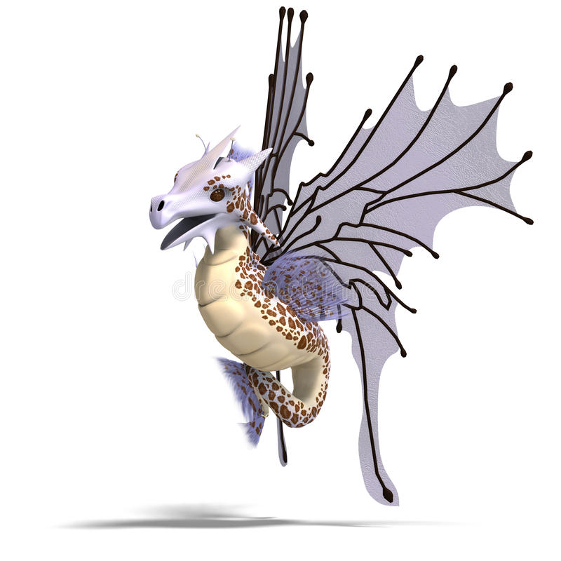 фантазия faerie дракона иллюстрация штока