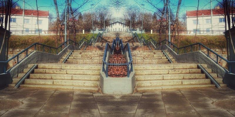 Фантастическая лестница 1 стоковое изображение