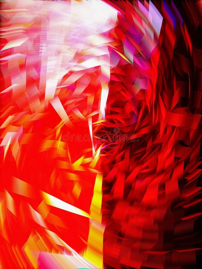 Фантастическая предпосылка фрактали Золотое конспекта яркие, голубой, пинк и пурпурные хаотические формы покрашенная предпосылка стоковые изображения