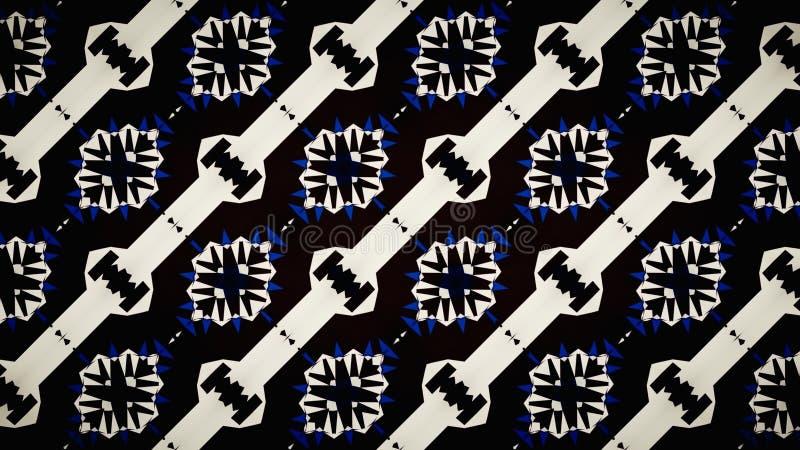 Фантастические голубые белые черные обои цвета иллюстрация вектора
