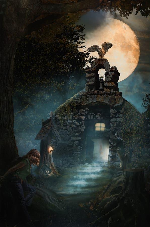 Фантастический замок бесплатная иллюстрация