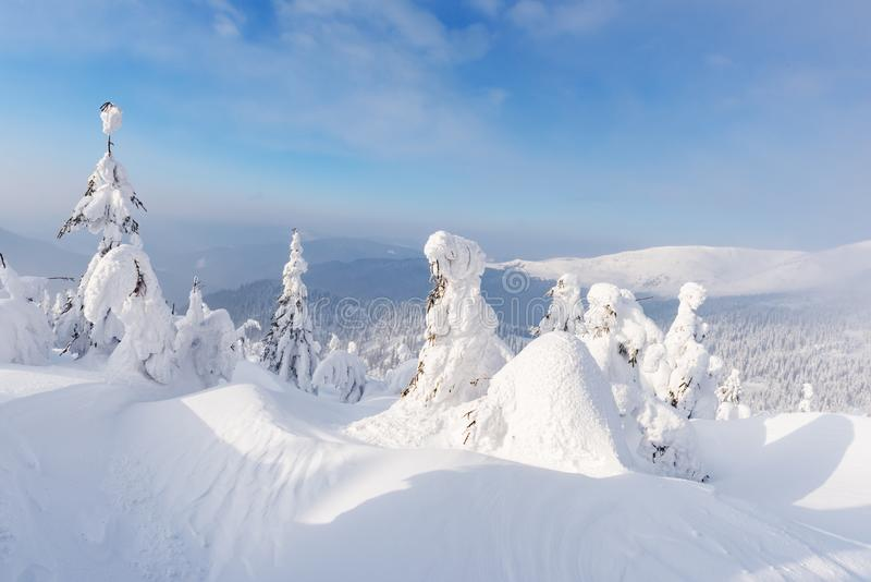 Фантастический зимний пейзаж стоковое фото