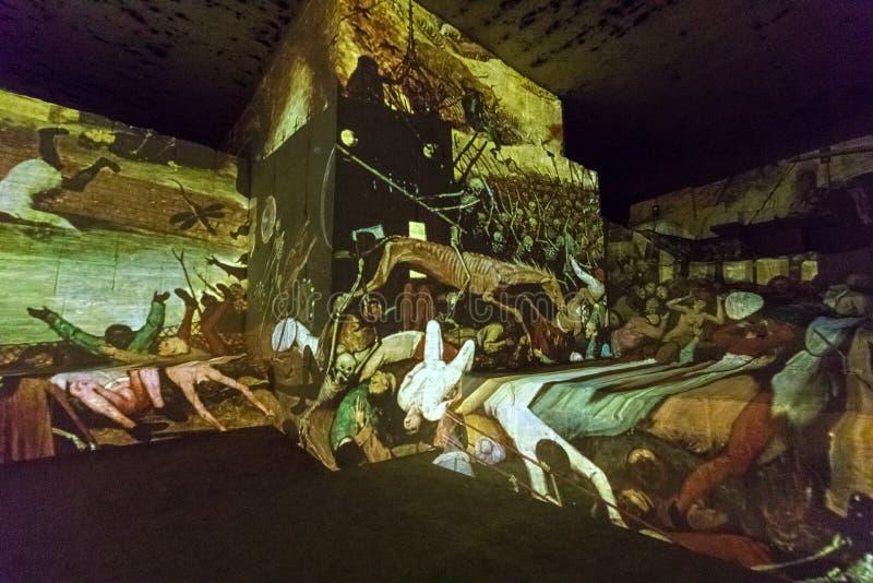 Фантастический и чудесный мир Bosch, Brueghel и Arcimboldo стоковые фотографии rf