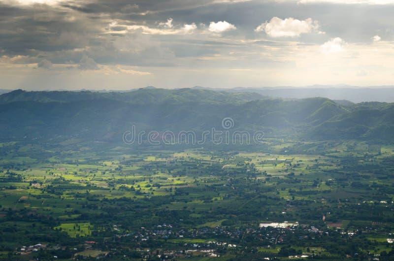 Фантастический слой горы стоковое фото rf