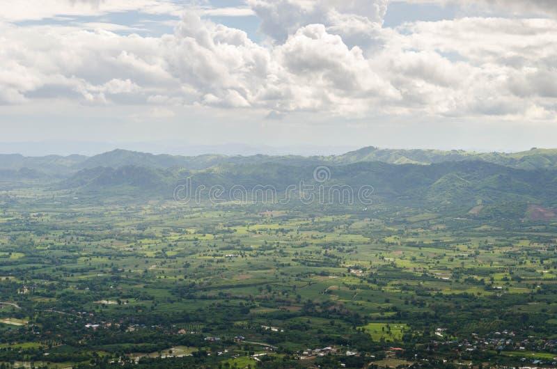 Фантастический слой горы стоковое фото
