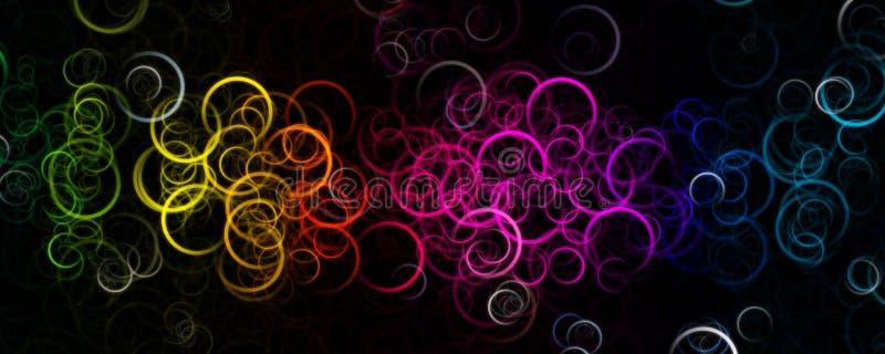 Фантастический элегантный дизайн предпосылки панорамы круга иллюстрация штока