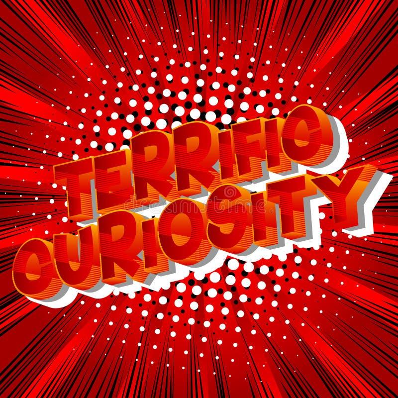 Фантастическое любопытство - слова стиля комика иллюстрация вектора