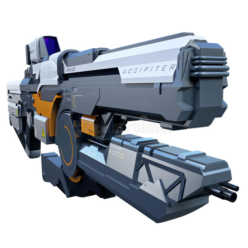 Фантастическое оружие иллюстрация вектора
