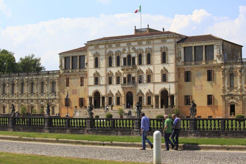 Фантастичная вилла Contarini в sul Brenta Piazzola в Италии стоковое изображение rf