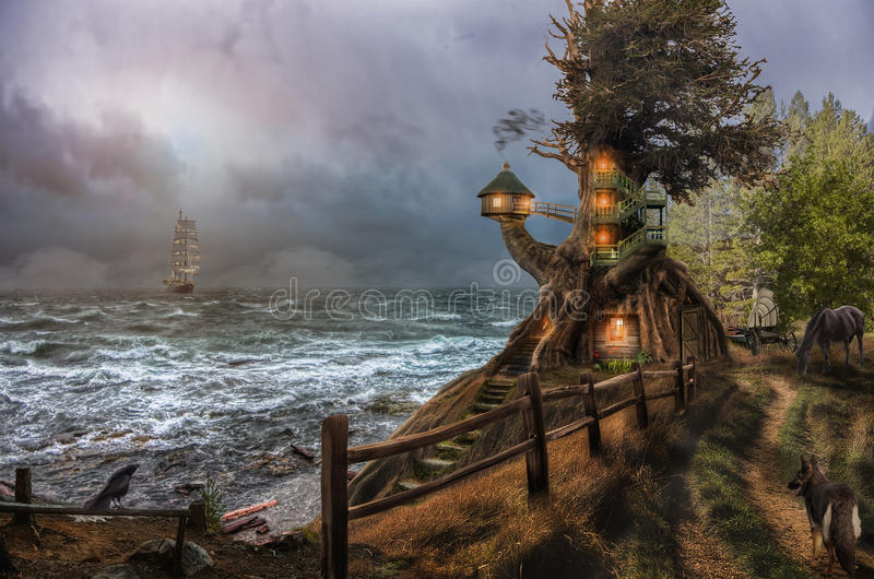Фантастичный маяк стоковое фото
