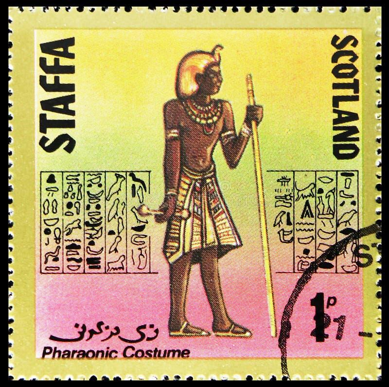 Фараонский костюм, 1 сбор p, serie Staffa Шотландии, около 1980 стоковые фото