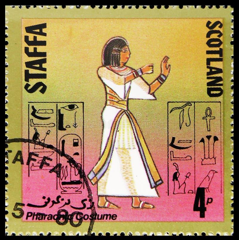 Фараонский костюм, сбор 4 p, serie Staffa Шотландии, около 1980 стоковая фотография rf