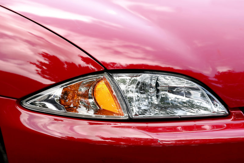 фара автомобиля близкая вверх стоковое фото rf