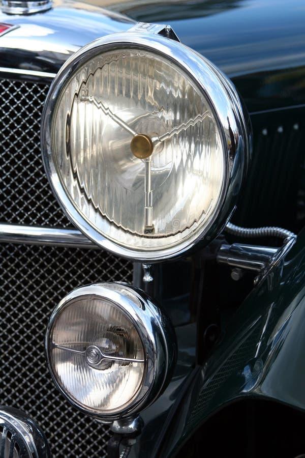 фара автомобиля ретро стоковые изображения