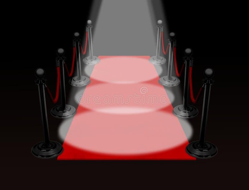 фара красного цвета ковра иллюстрация штока