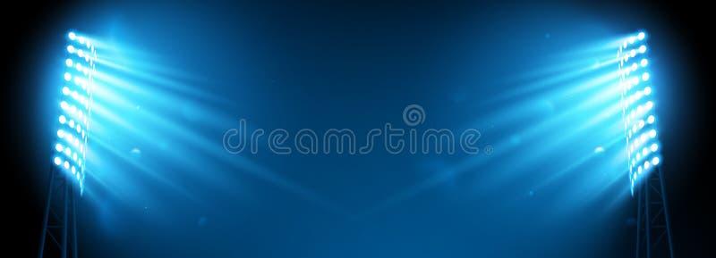 Фара на арене футбола иллюстрация штока