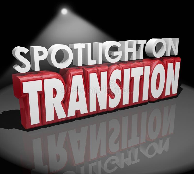 Фара на словах преобразования 3d изменения перехода различных иллюстрация штока