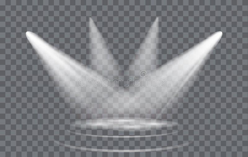 Фара светового эффекта вектора бесплатная иллюстрация