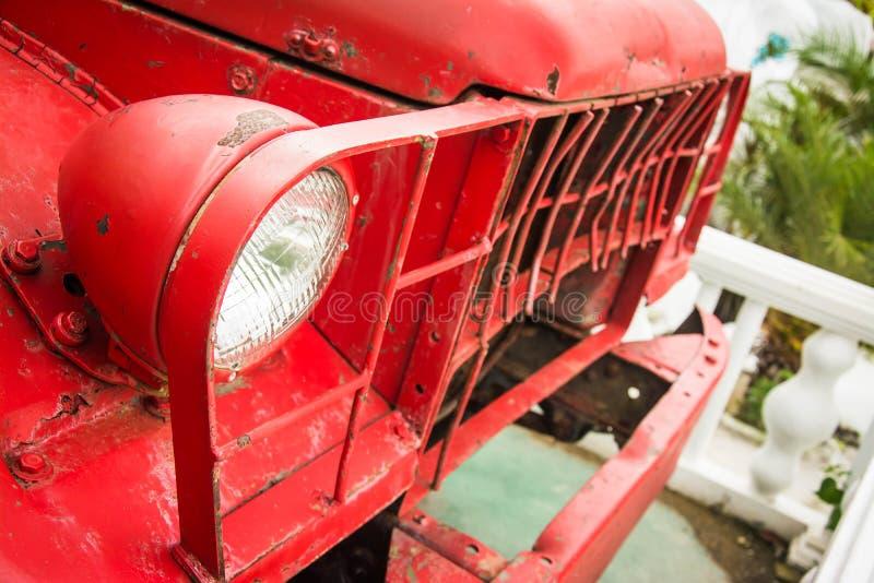 Фара старого автомобиля стоковое изображение