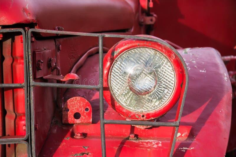 Фара старого автомобиля стоковое фото