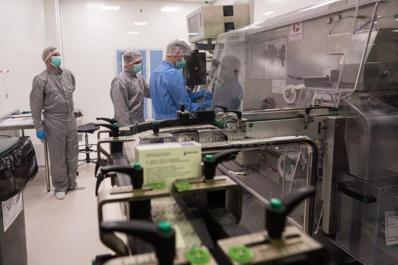 Фармацевтическая фабрика для продукции generics стоковое изображение rf