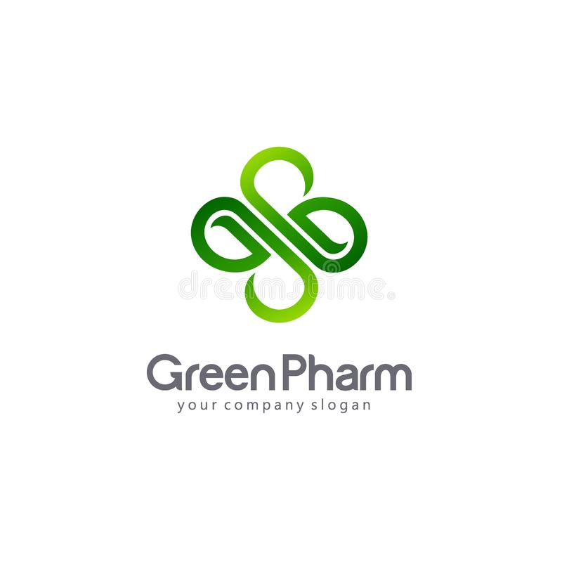 Фармация логотипа вектора Eco, био, органическая эмблема бесплатная иллюстрация