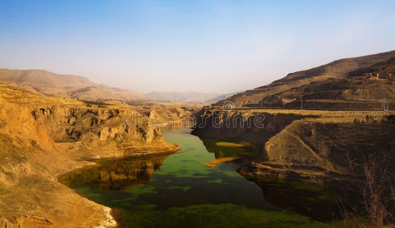 Фарфор Ганьсу пейзажа плато лёсса стоковые фото