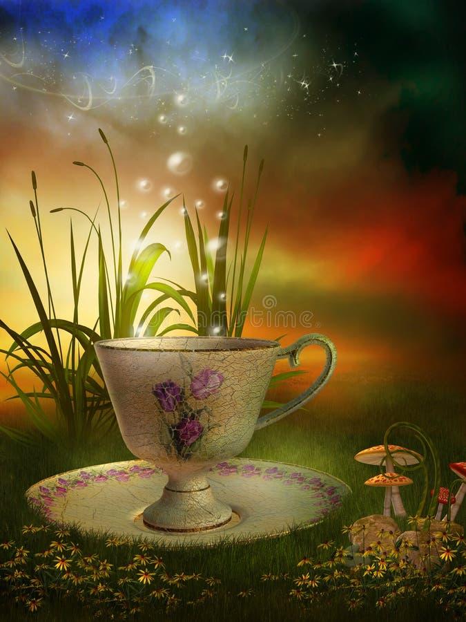 фарфор сада чашки fairy бесплатная иллюстрация
