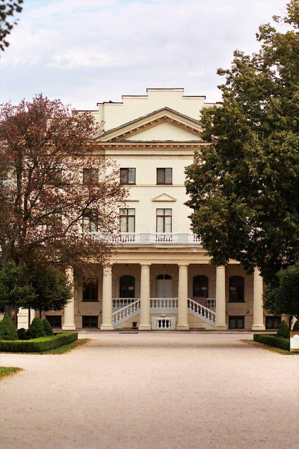 Фасад дворца ` Kirill Razumovsky отсчета гетмана в неоклассическом стиле стоковое фото rf