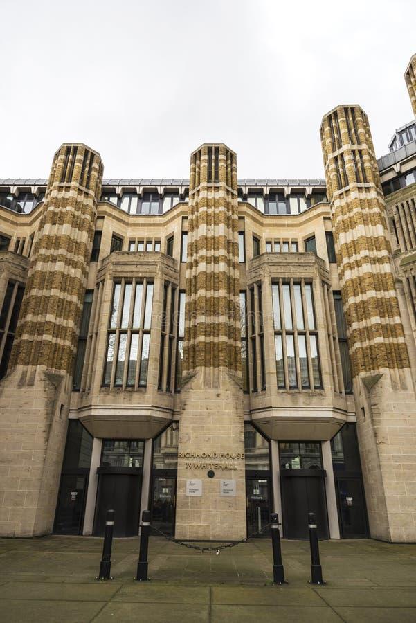 Фасад дома Ричмонда в Лондоне, Великобритании стоковые изображения