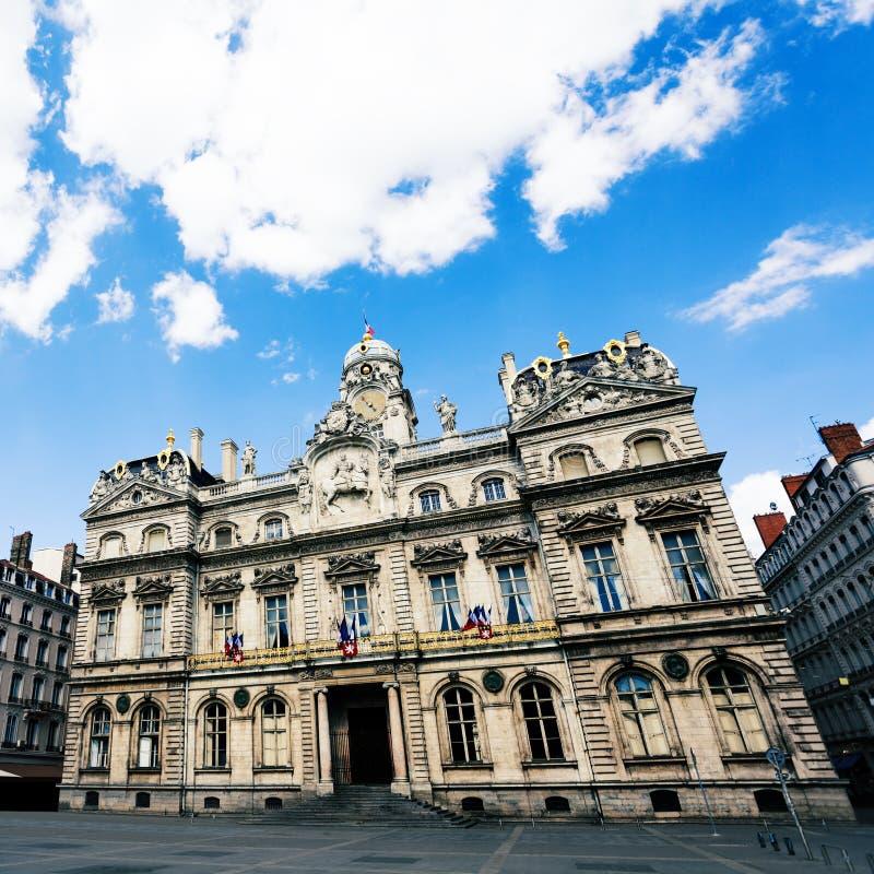 Фасад здания здание муниципалитета Лиона, Франции, Европы стоковые изображения