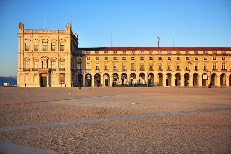 Фасад здания на Praca делает Comercio стоковое фото