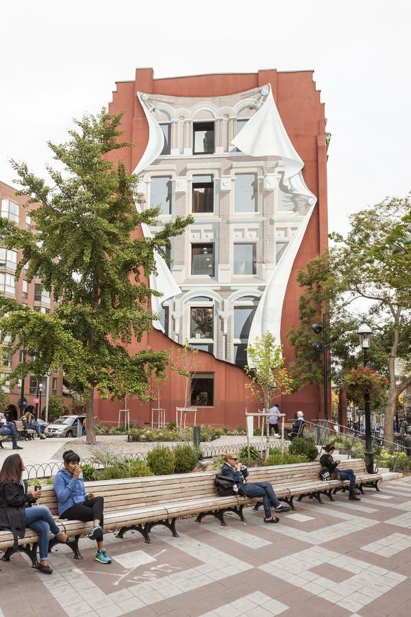 Фасад здания стороны в Торонто, Канаде стоковые фото