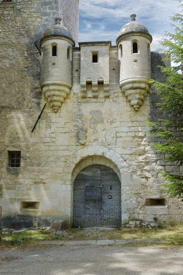 Фасад медитерранского замка стоковая фотография