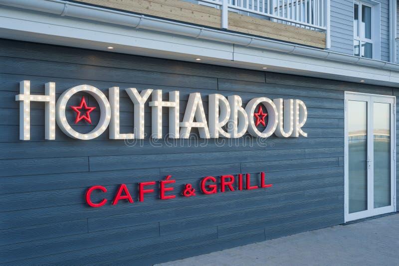 Фасад ресторана Holyharbour в Heiligenhafen стоковая фотография