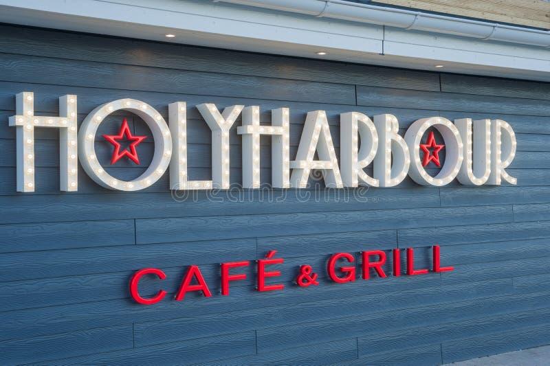 Фасад ресторана Holyharbour в Heiligenhafen стоковые фото