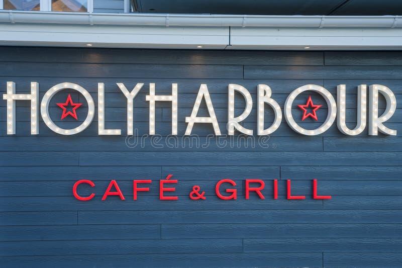 Фасад ресторана Holyharbour в Heiligenhafen стоковая фотография rf