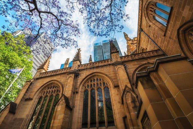 Фасад собора ` s St Andrew в Сиднее стоковое изображение