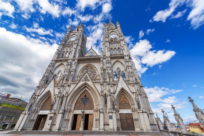 Фасад базилики Кито стоковое изображение