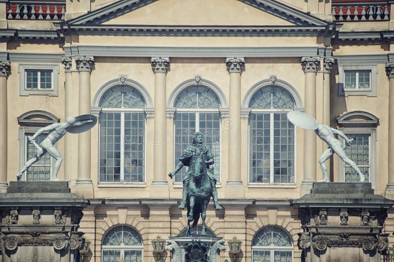 Фасад дворца Charlottenburg в Берлине стоковое изображение rf