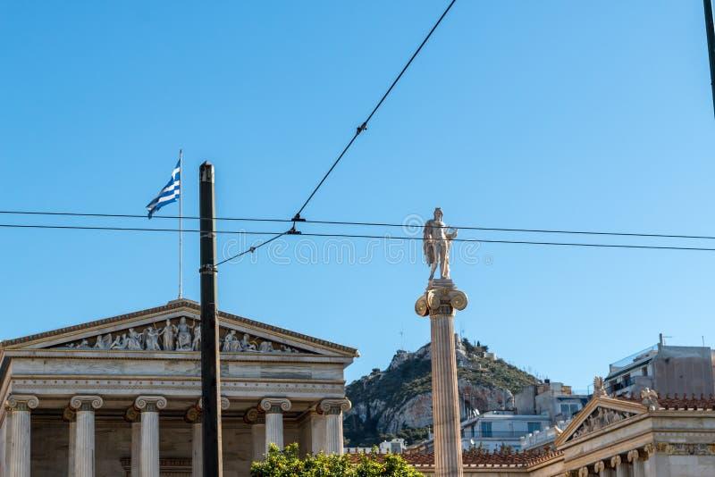 Фасад здания в Афинах, Греции стоковое изображение rf
