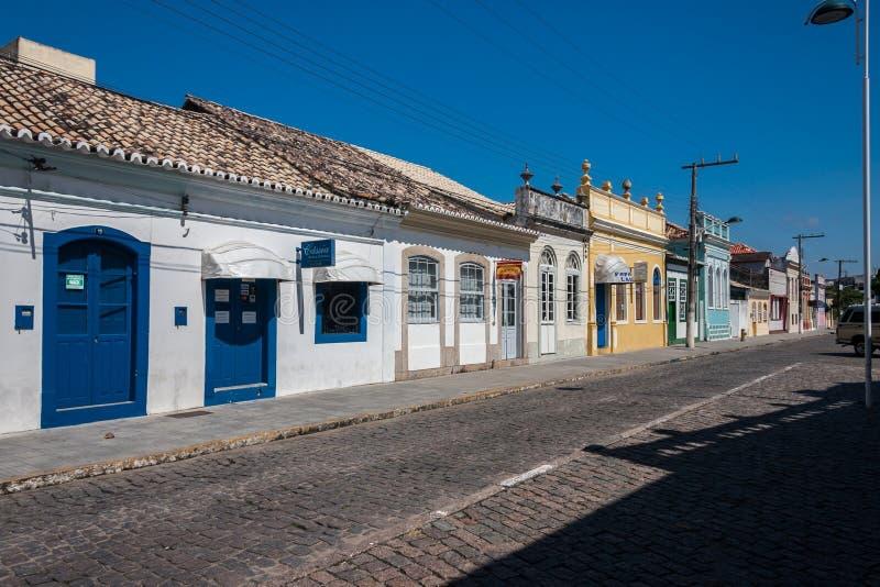 Фасад здания Laguna исторический стоковое изображение rf
